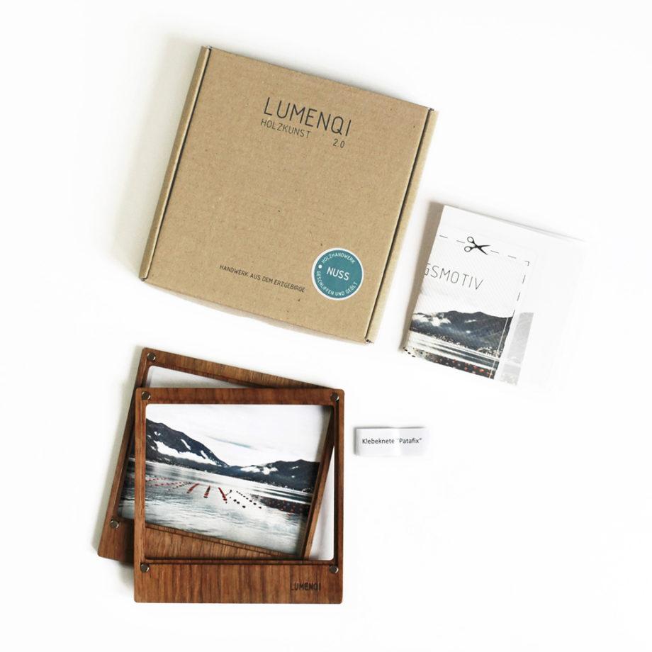 lumenqi-holz-design-bilderrahmen aus holz-memoholz-geschenkidee-nuss-lieferumfang