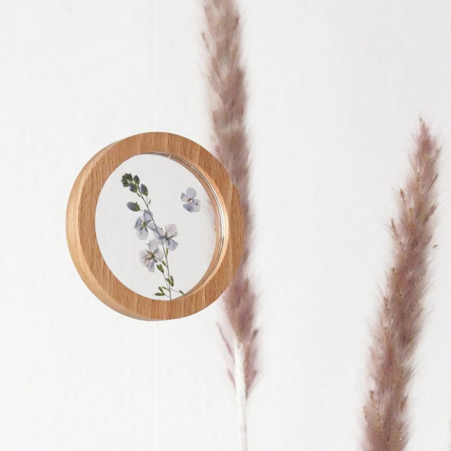 Lumenqi_runde Bilderrahmen aus Holz_Bilderrahmen_rund_klein_acrylglas_2